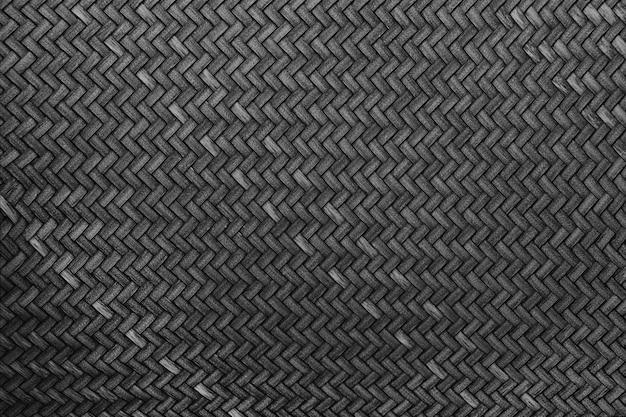 Zbliżenie z czarnego rattanu, piękna powierzchnia tekstury rattanu dla