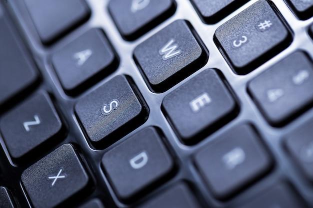 Zbliżenie z klawiatury