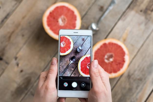 Zbliżenie zdjęcia owoców