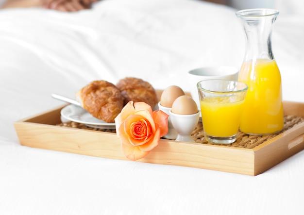 Zbliżenie zdrowego śniadania