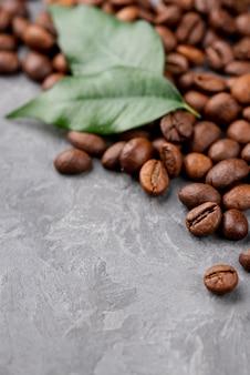 Zbliżenie ziaren kawy