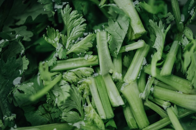 Zbliżenie zieleni warzywa