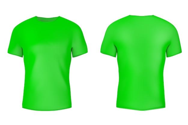 Zbliżenie zielony pusta koszulka z pustej przestrzeni dla ciebie projekt na białym tle. renderowanie 3d