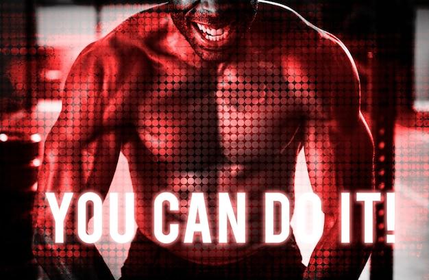 Zbuduj własną siłę ciała ćwicz ćwiczenie w siłowni uzyskaj fit