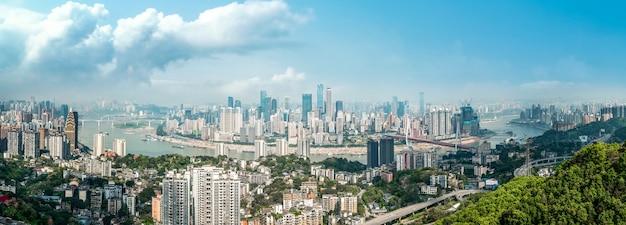 Zdjęcia lotnicze górskiego miasta chongqing