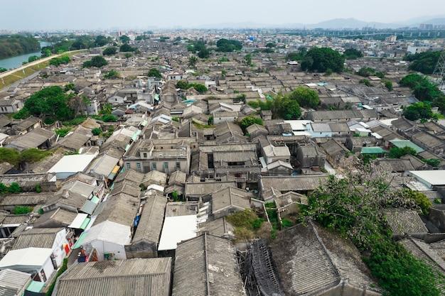 Zdjęcia lotnicze starożytnego miasta chaozhou w chinach