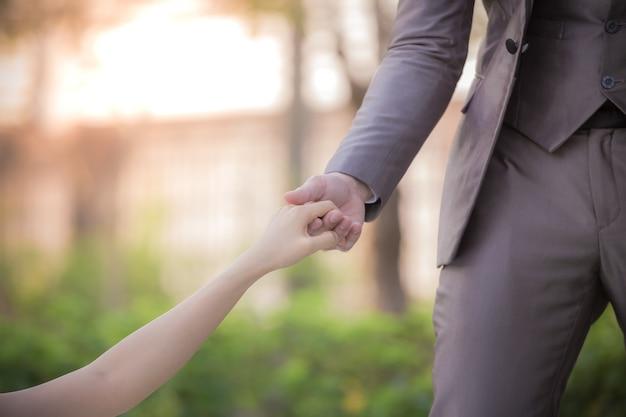 Zdjęcia pary są symbolem miłości jako ilustracji