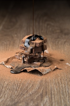 Zdjęcie czekolady z syropem