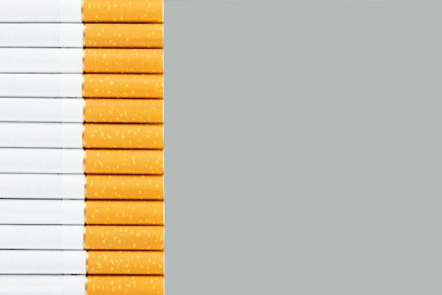 Zdjęcie kilku papierosów przemysłowych