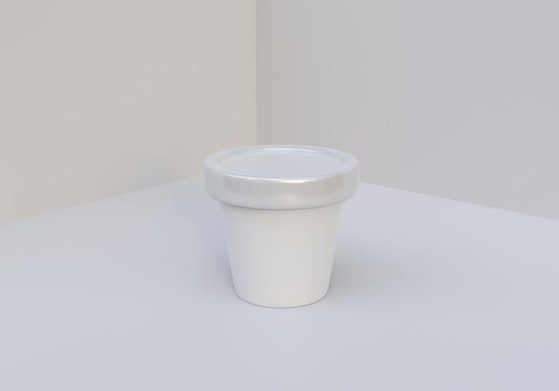 Zdjęcie makiety słoika do lodów na białym tle