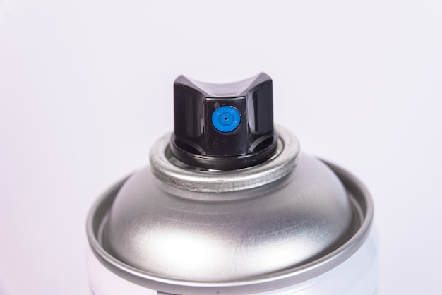 Zdjęcie makro farby w aerozolu