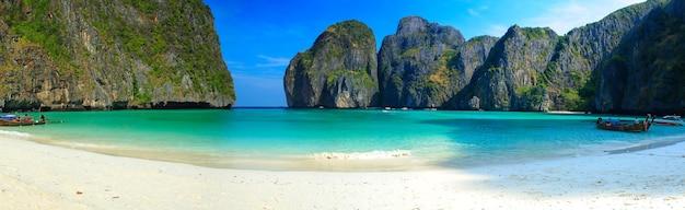Zdjęcie panoramy wyspy phi phi, tajlandia