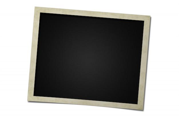 Zdjęcie ramki karty na białym tle