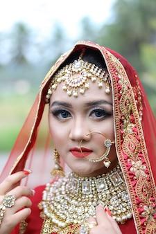 Zdjęcie tradycyjnej indyjskiej kobiety