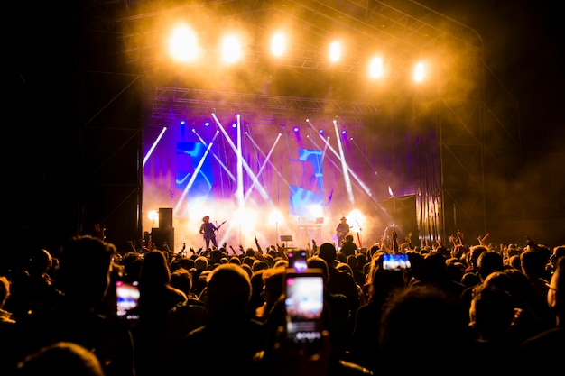 Zdjęcie wielu osób lubiących nocne występy