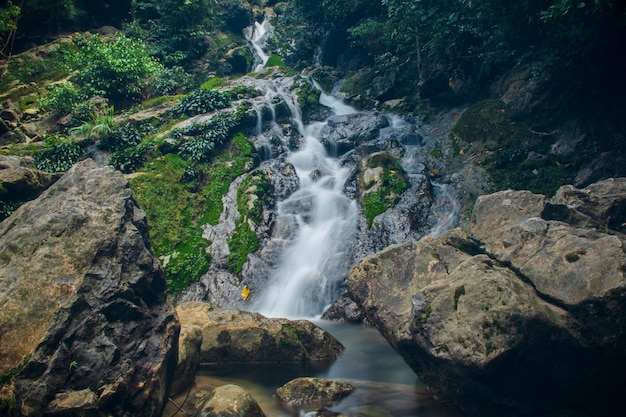 Zdjęcie wodospadu pudeng dzielnica aceh besar aceh indonezja