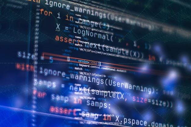 Zdjęcie zbliżenie notebooka. wykorzystanie css, javascript i html. monitoruj zbliżenie kodu źródłowego funkcji.