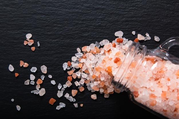 Zdrowa karmowa pojęcie menchii himalajska sól
