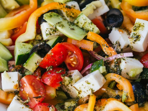 Zdrowa sałatka pojęcie diety