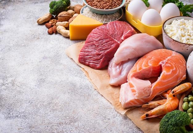 Zdrowa żywność bogata w białko