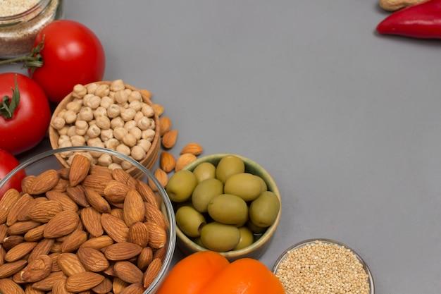 Zdrowa żywność dla diety i stylu życia.