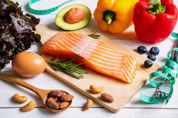 Zdrowe jedzenie o niskiej zawartości węglowodanów, dieta ketogeniczna