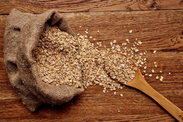 Zdrowe jedzenie składników śniadaniowych kuchnia zbliżenie