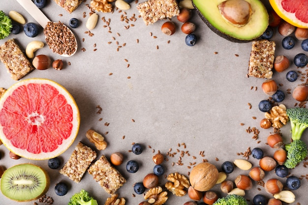 Zdrowe jedzenie styl życia tło