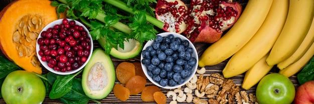 Zdrowe jedzenie w tle