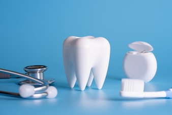 Zdrowe narzędzia dentystyczne narzędzia do opieki stomatologicznej Profesjonalny koncepcja stomatologiczna
