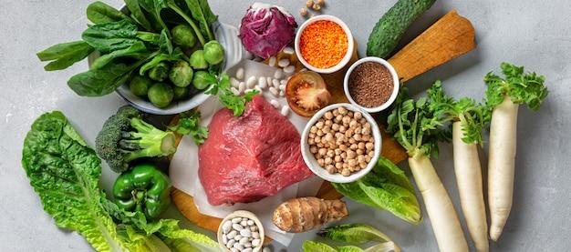 Zdrowe odżywianie i zbilansowane składniki odżywcze czyste jedzenie