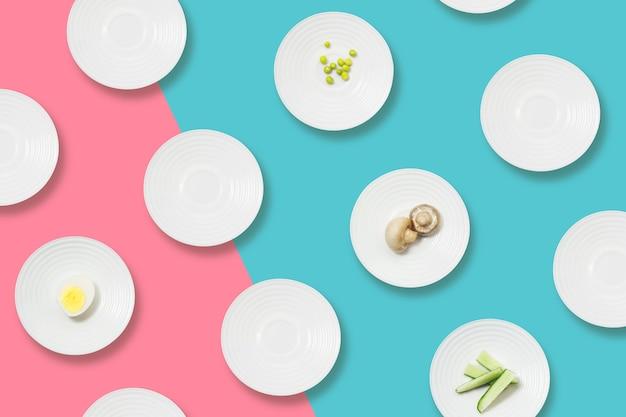 Zdrowe odżywianie minimalistyczny płaski leżał