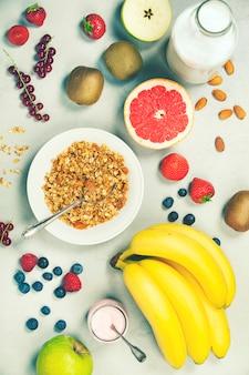 Zdrowe śniadanie składników