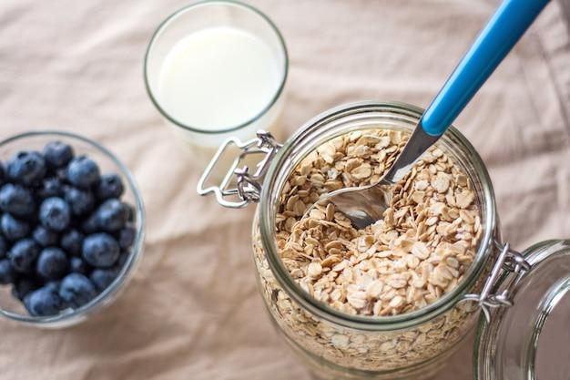 Zdrowe śniadanie z góry