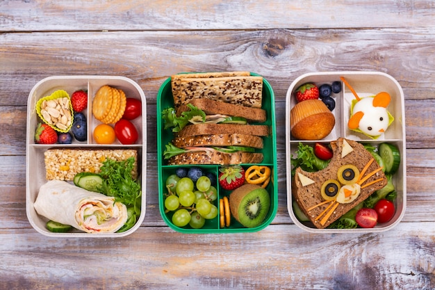 Zdrowe szkolne pudełka na lunch