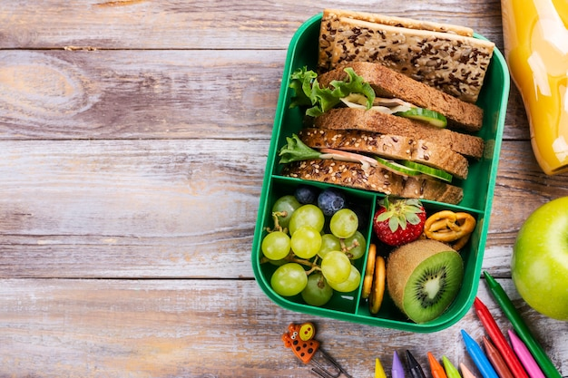 Zdrowe szkolne pudełko na lunch