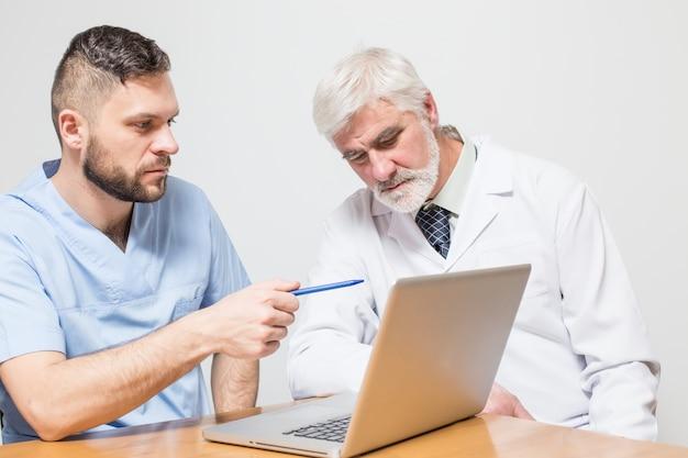 Zdrowie chirurgiczne notebook pokój szpitalny mężczyzn