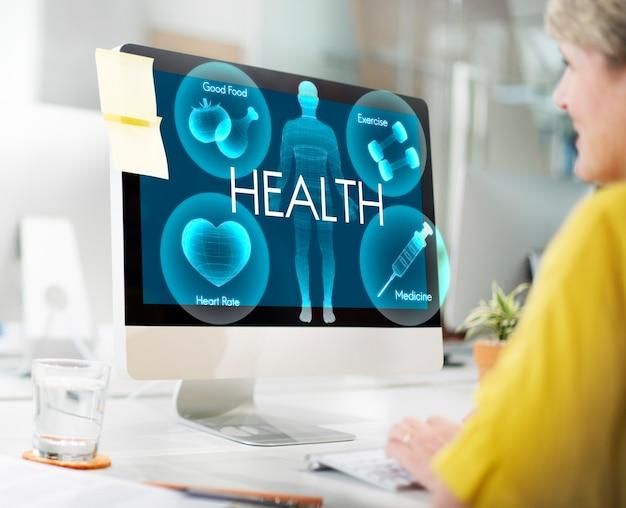 Zdrowie dobre samopoczucie wellness witalność koncepcja opieki zdrowotnej