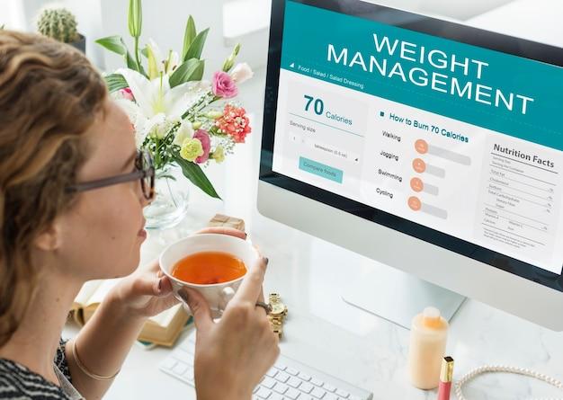 Zdrowie fitness odżywianie monitor wellness concept