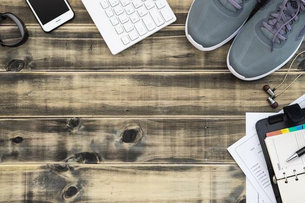 Zdrowy biznes aktywny styl życia koncepcja tło.