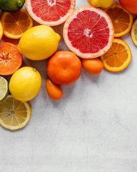 Zdrowy pokarm układany na płasko dla kompozycji wzmacniającej odporność