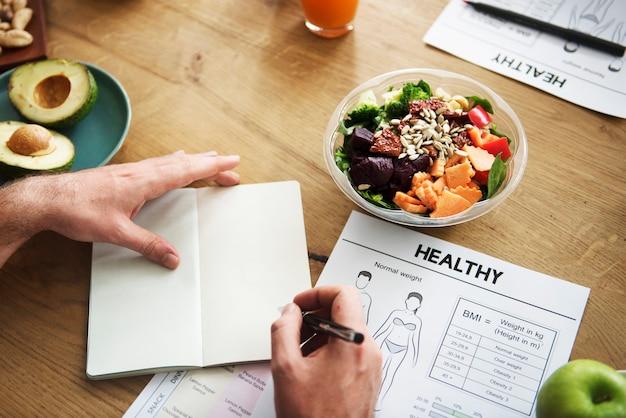 Zdrowy styl życia diety odżywiania pojęcie