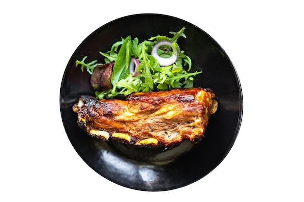 Żeberka w glazurze pieczone mięso grill wieprzowina smażona wołowina lub jagnięcina sos ostre przyprawy