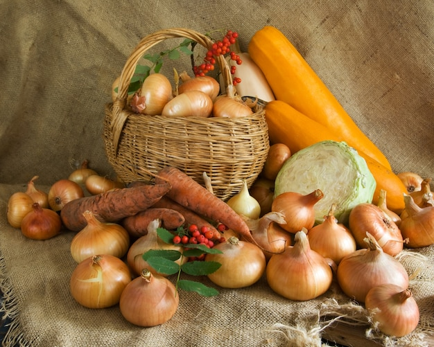 Zebranych warzyw