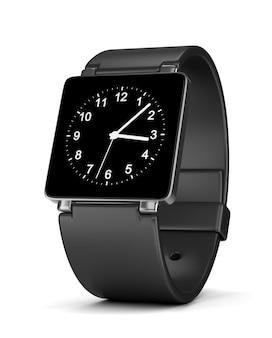 Zegar analogowy smartwatch na białym tle
