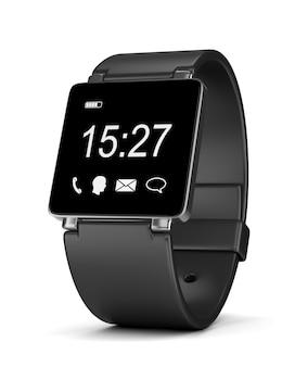 Zegar cyfrowy smartwatch na białym tle