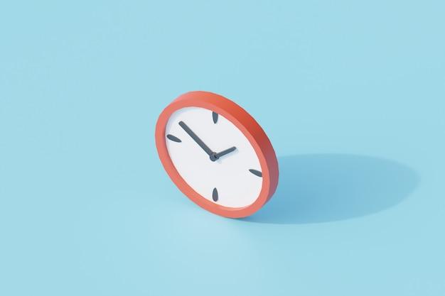 Zegar pojedynczy izolowany obiekt. renderowanie 3d