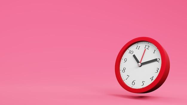 Zegar ścienny zegar biurowy koncepcja czasu renderowania 3d