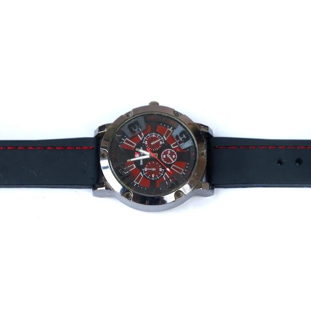 Zegarek na białym tle