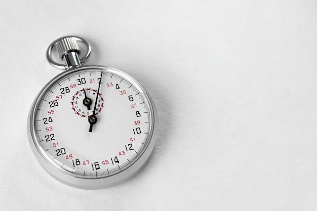 Zegarki pomiarowe. minęło pięć sekund.